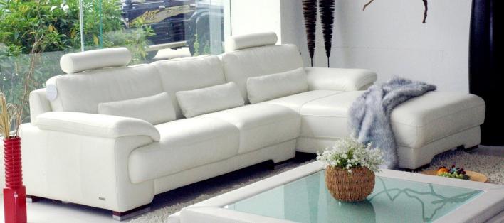 Canapé cuir d'angle Cascada