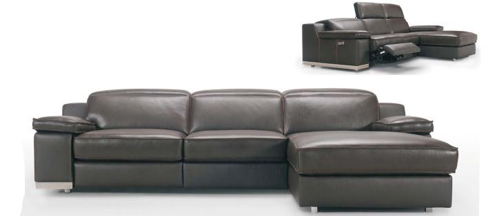 Canapé cuir d'angle Amos