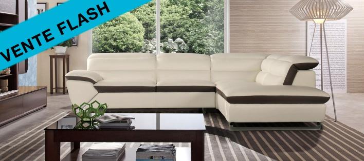 Canapé cuir d'angle Berkley