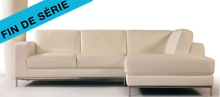 Canapé cuir d'angle Hudson