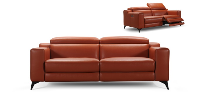 Canapé cuir relax Midley