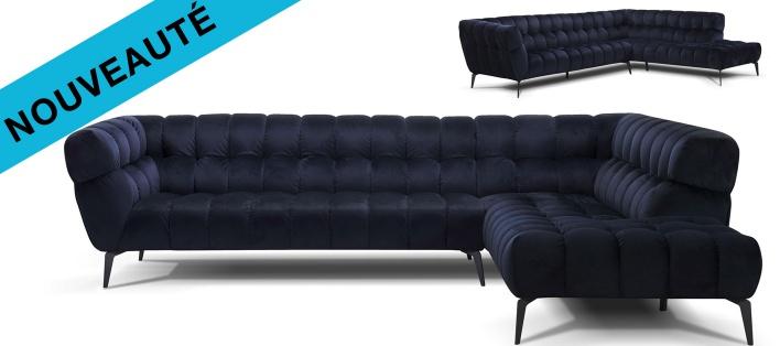 Canapé tissu d'angle Curby