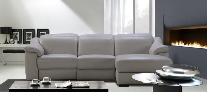 Canapé cuir d'angle Bombay
