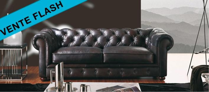 Canapé cuir Chesterfield