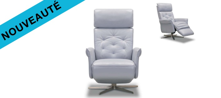 Fauteuil relax cuir Casual
