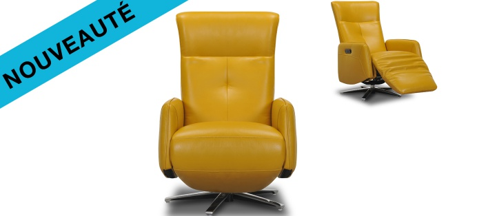 Fauteuil cuir Loggy relax