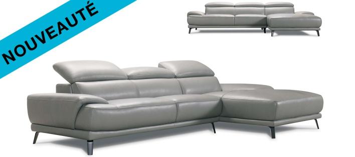 Canapé cuir Mina