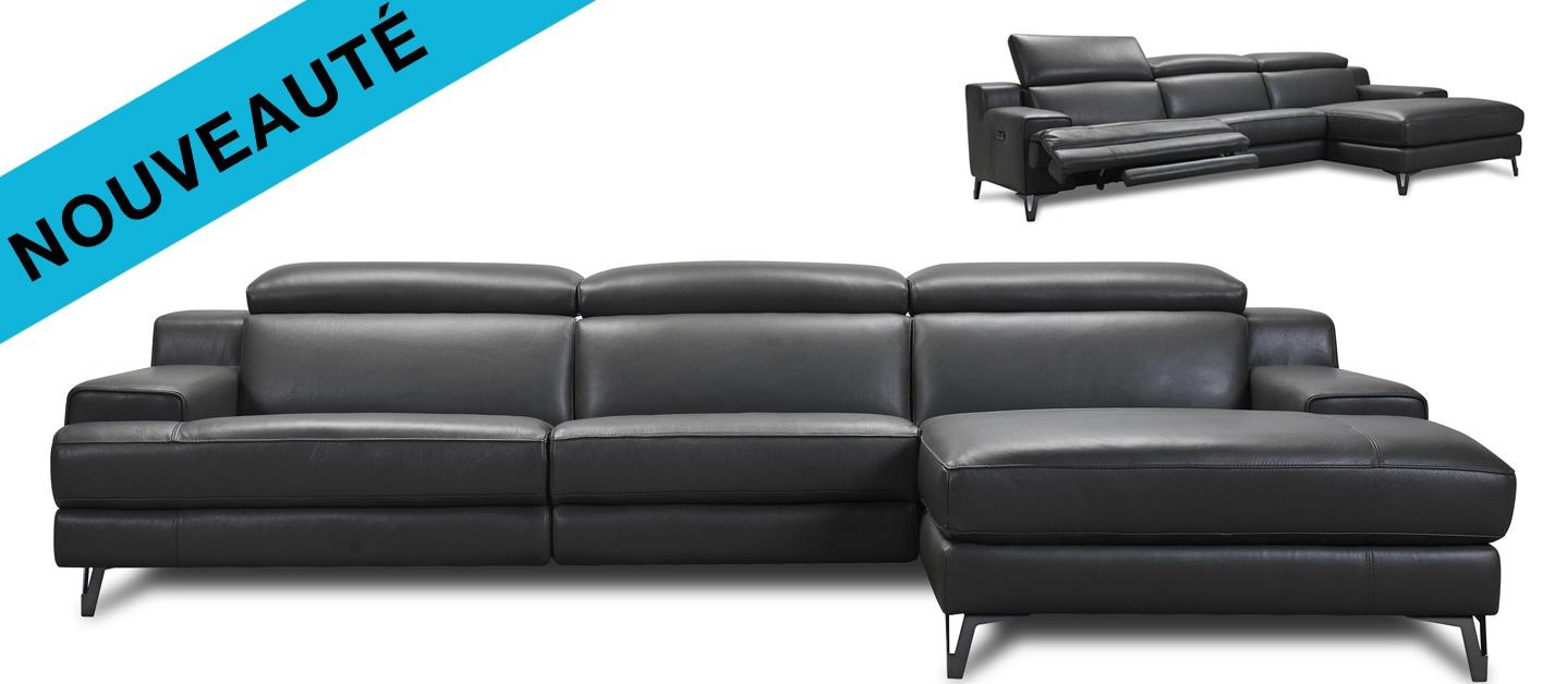 Changer La Couleur D Un Canapé En Cuir canapé cuir d'angle relax tommy