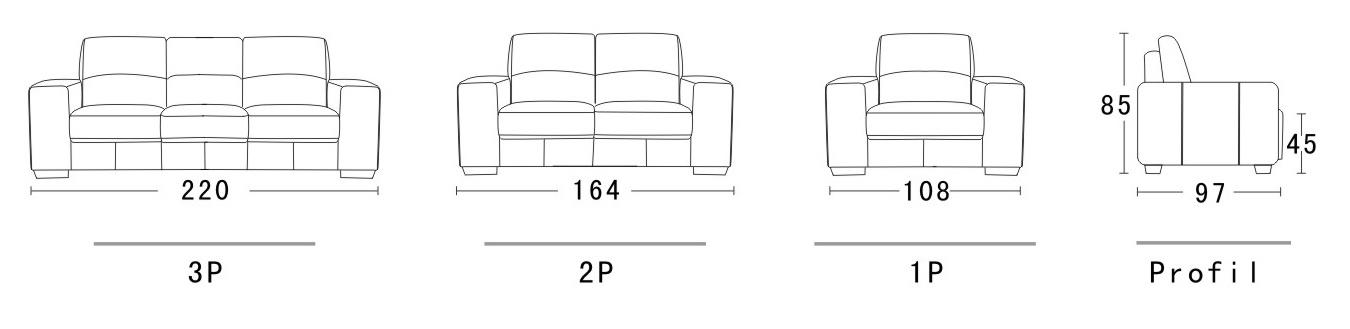 Canap cuir belair - Dimension d un canape ...