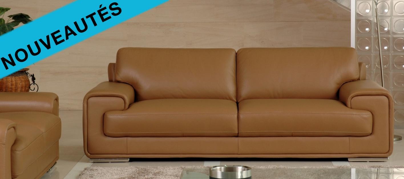 canap cuir p rou. Black Bedroom Furniture Sets. Home Design Ideas