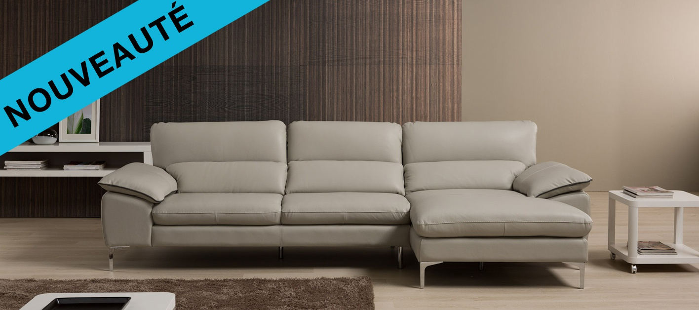 canap cuir d 39 angle flavio. Black Bedroom Furniture Sets. Home Design Ideas