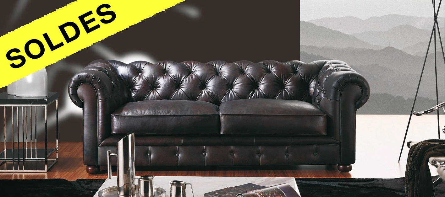 canap cuir chesterfield. Black Bedroom Furniture Sets. Home Design Ideas