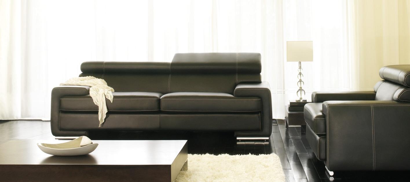 Un canapé cuir noir pour votre salon avec canapé show