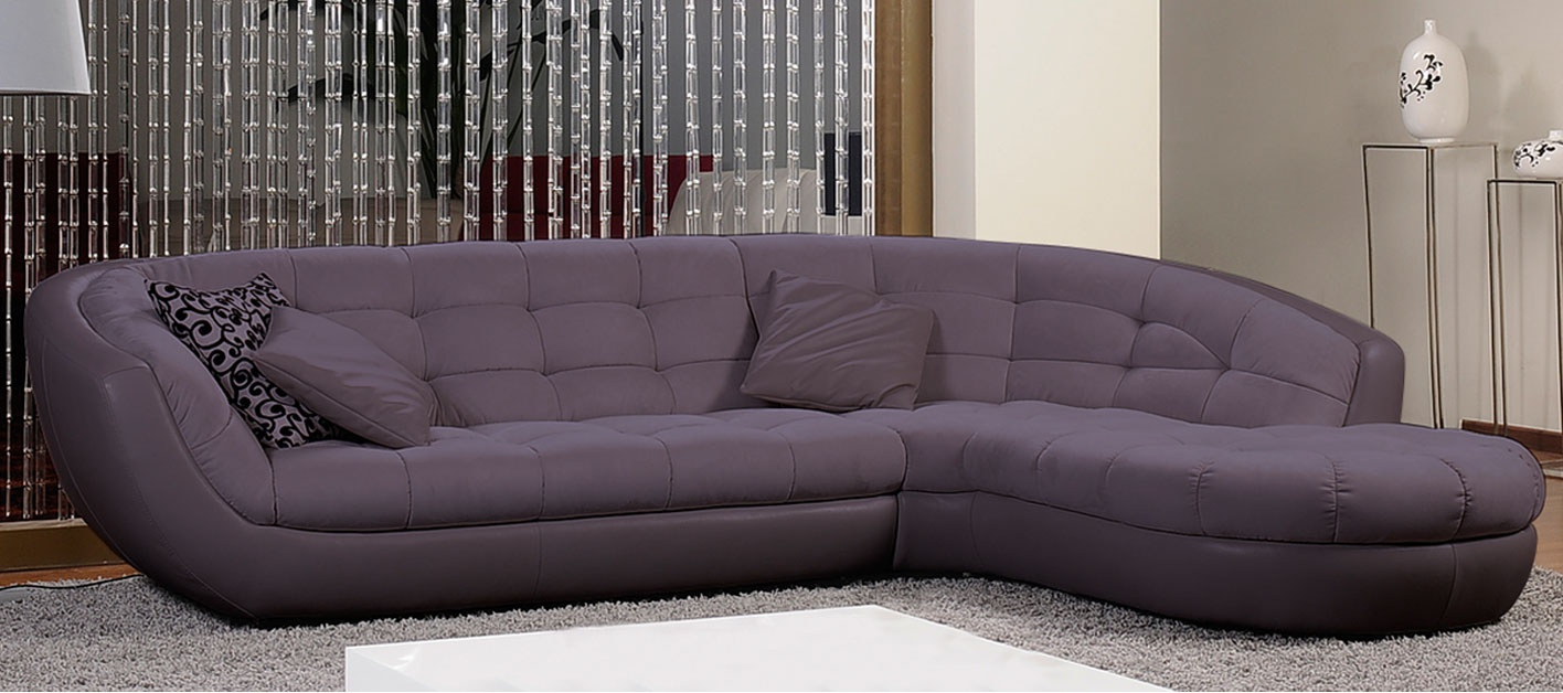 Canap d 39 angle lounge - Canape d angle violet ...