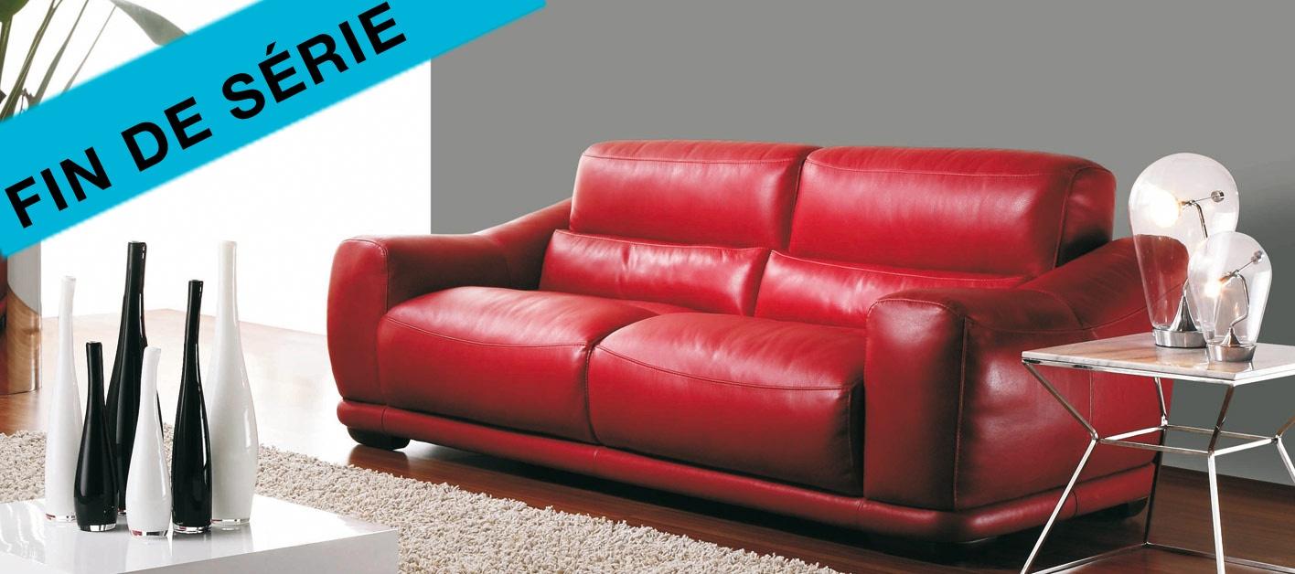 grand choix de ebfc6 6010d Un canapé cuir rouge pour votre salon avec www.canape-show.fr