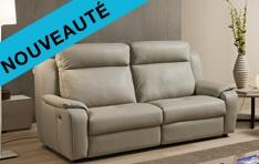 Canapé cuir relax Ascione