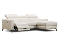 Canapé cuir d'angle Fama avec relax electrique
