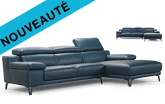 Canapé cuir d'angle Cervione