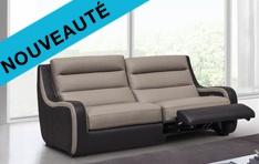 Canapé cuir relax Wavy