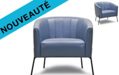 Fauteuil cuir Tommy