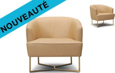 Fauteuil cuir Vibe