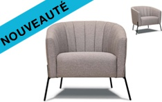 Fauteuil tissu Tommy