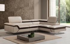 Canapé cuir d'angle Nivério