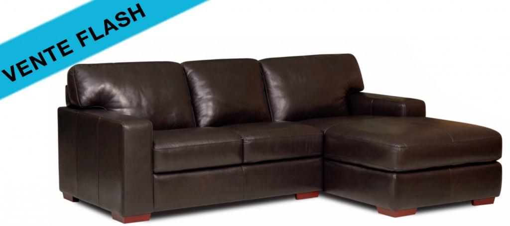 les canap s cuir de la semaine en vente flash canap cuir. Black Bedroom Furniture Sets. Home Design Ideas