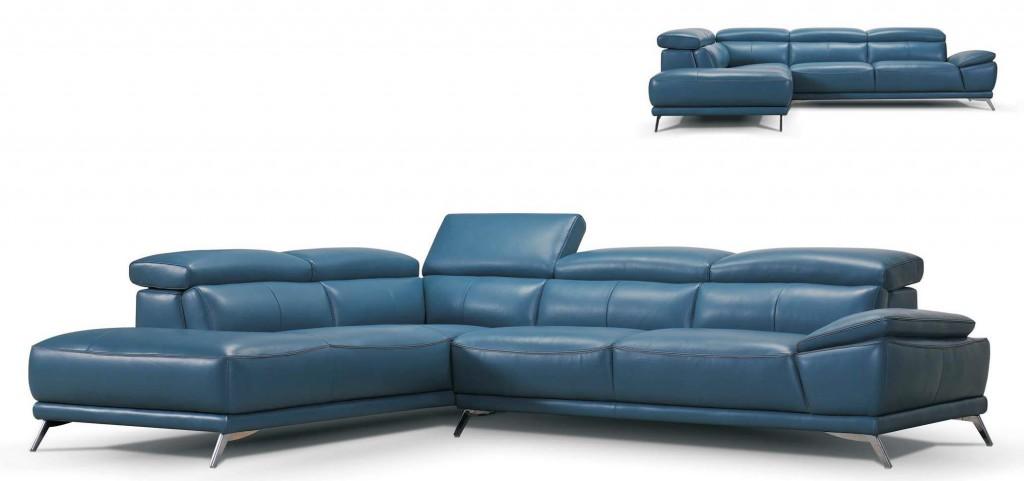 canapé bleu en angle