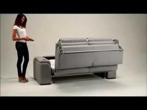 canapé lit avec mécanisme electrique
