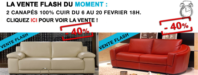 canape cuir vente flash