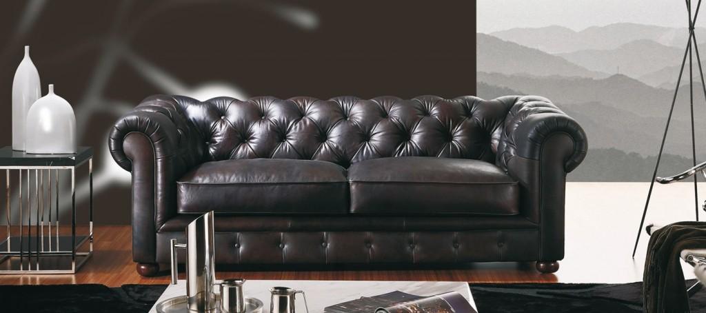 Superbe Canapé Cuir Chesterfield En Prix De Lancement Sur Le Site - Salon cuir noir