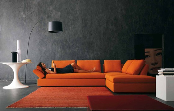 comment acheter un canap cuir orange pas cher canap show. Black Bedroom Furniture Sets. Home Design Ideas