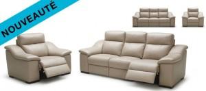 canapé classique avec des relax electriques