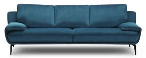 canapé arrondi tissu bleu