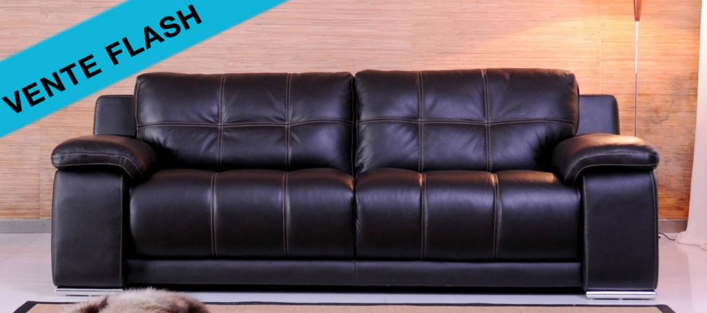 Les canap s cuir de la semaine en vente flash canap cuir for Canape a 100 euros