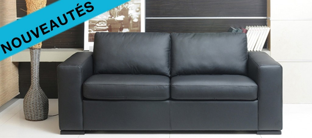 petit canapé cuir convertible square